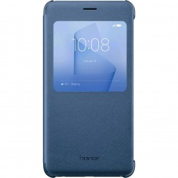 """""""Huawei"""" Smart Flip Cover atverčiamas dėklas - mėlynas (Honor 8 / Honor 8 Premium)"""