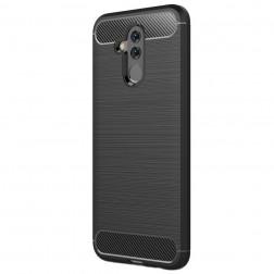 """""""Carbon"""" kieto silikono (TPU) dėklas - juodas (Mate 20 Lite)"""