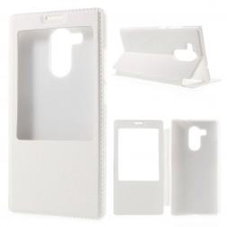 """""""Smart Window"""" atverčiamas odinis dėklas - baltas (Mate 8)"""