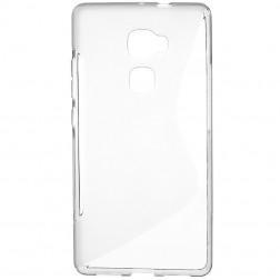 Kieto silikono (TPU) dėklas - skaidrus, pilkas (Mate S)