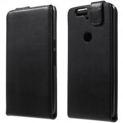 Klasikinis atverčiamas dėklas - juodas (Nexus 6P)