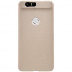 """""""Nillkin"""" Frosted Shield dėklas - auksinis + apsauginė ekrano plėvelė (Nexus 6P)"""