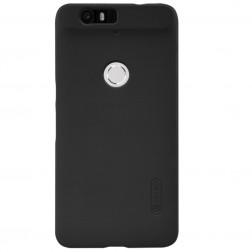 """""""Nillkin"""" Frosted Shield dėklas - juodas + apsauginė ekrano plėvelė (Nexus 6P)"""