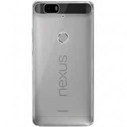 Ploniausias TPU skaidrus dėklas - pilkas (Nexus 6P)