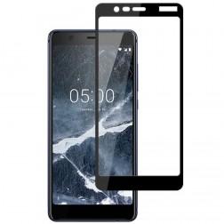 """""""Mocolo"""" Tempered Glass pilnai dengiantis apsauginis ekrano stiklas 0.2 mm - juodas (Nokia 5.1 2018)"""