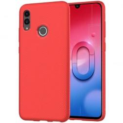"""""""Lenuo"""" kieto silikono (TPU) dėklas - raudonas (P Smart 2019)"""