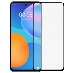 """""""Premium"""" Tempered Glass pilnai dengiantis apsauginis ekrano stiklas 0.2 mm - juodas (P Smart 2021)"""