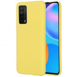 """""""Shell"""" kieto silikono (TPU) dėklas - geltonas (P smart 2021)"""