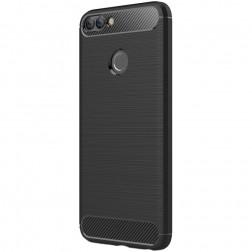 """""""Carbon"""" kieto silikono (TPU) dėklas - juodas (P smart)"""