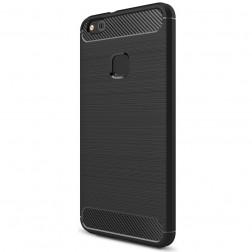 """""""Carbon"""" kieto silikono (TPU) dėklas - juodas (P10 Lite)"""