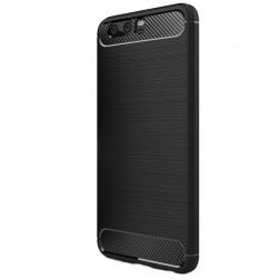 """""""Carbon"""" kieto silikono (TPU) dėklas - juodas (P10 Plus)"""