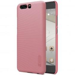 """""""Nillkin"""" Frosted Shield dėklas - rožinis + apsauginė ekrano plėvelė (P10 Plus)"""