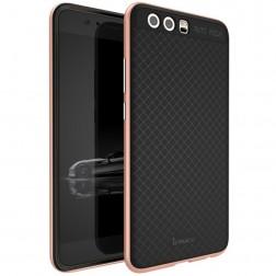 """""""IPAKY"""" kieto silikono (TPU) dėklas - juodas / rožinis (P10 Plus)"""
