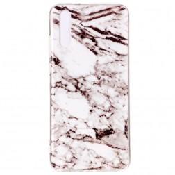 """""""Marble"""" kieto silikono (TPU) dėklas - baltas (P20)"""