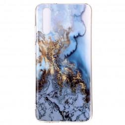 """""""Marble"""" kieto silikono (TPU) dėklas - mėlynas (P20)"""