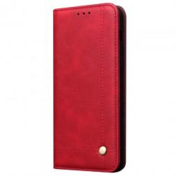 """""""Deluxe"""" atverčiamas dėklas - raudonas (P30 Lite)"""