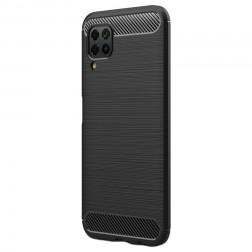 """""""Carbon"""" kieto silikono (TPU) dėklas - juodas (P40 Lite)"""