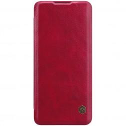 """""""Nillkin"""" Qin atverčiamas dėklas - raudonas (P40 Pro+)"""