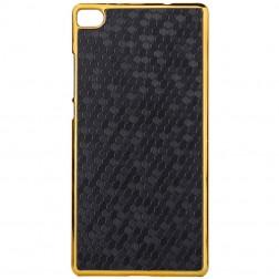 Elegantiškas korėtas dėklas - juodas (P8)