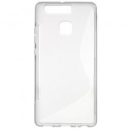 Kieto silikono (TPU) dėklas - skaidrus, pilkas (P9)