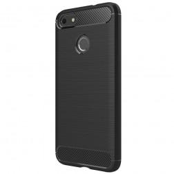 """""""Carbon"""" kieto silikono (TPU) dėklas - juodas (P9 Lite Mini)"""
