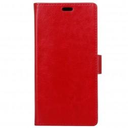 Atverčiamas dėklas, knygutė - raudonas (P9 Lite Mini)