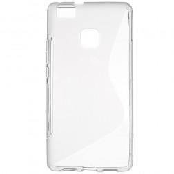Kieto silikono (TPU) dėklas - skaidrus, pilkas (P9 Lite)
