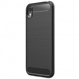"""""""Carbon"""" kieto silikono (TPU) dėklas - juodas (Y5 2019 / Honor 8S)"""