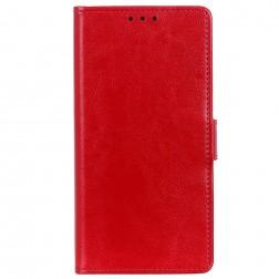 Atverčiamas dėklas, knygutė - raudonas (Y5 2019 / Honor 8S)