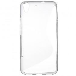 Kieto silikono (TPU) dėklas - skaidrus, pilkas (Y6)