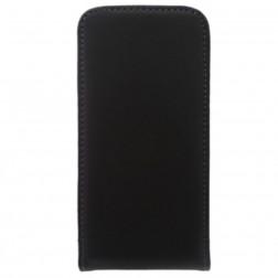 Klasikinis vertikaliai atverčiamas dėklas - juodas (iPhone 4 / 4S)