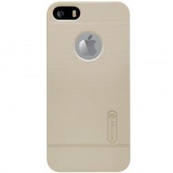 """""""Nillkin"""" Frosted Shield dėklas - auksinis + apsauginė plėvelė (iPhone 5 / 5S / SE)"""
