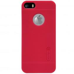 """""""Nillkin"""" Frosted Shield dėklas - raudonas + apsauginė plėvelė (iPhone 5 / 5S / SE)"""