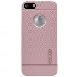 """""""Nillkin"""" Frosted Shield dėklas - rožinis + apsauginė plėvelė (iPhone 5 / 5S / SE)"""
