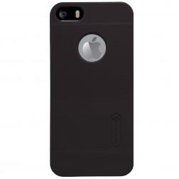 """""""Nillkin"""" Frosted Shield dėklas - rudas + apsauginė plėvelė (iPhone 5 / 5S / SE)"""