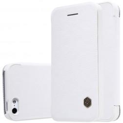 """""""Nillkin"""" Qin atverčiamas dėklas - baltas (iPhone 5 / 5s / SE)"""