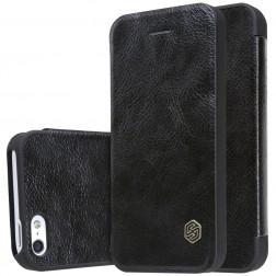 """""""Nillkin"""" Qin atverčiamas dėklas - juodas (iPhone 5 / 5s / SE)"""