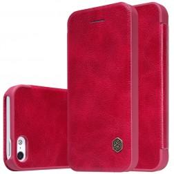 """""""Nillkin"""" Qin atverčiamas dėklas - raudonas (iPhone 5 / 5s / SE)"""