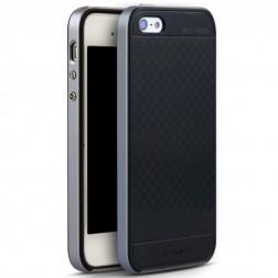 """""""IPAKY"""" kieto silikono (TPU) dėklas - juodas / pilkas (iPhone 5 / 5S / SE)"""
