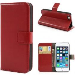 """""""Lychee"""" atverčiamas dėklas - raudonas (iPhone 5 / 5S / SE)"""