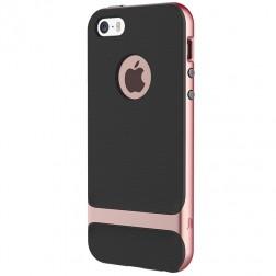 """""""Rock"""" Royce dėklas - juodas / rožinis (iPhone 5 / 5s / SE)"""