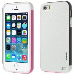 """""""Walnutt"""" kieto silikono dėklas - baltas / juodas (iPhone 5 / 5s / SE)"""