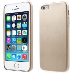 """Slim Leather"" dėklas - auksinis (iPhone 5 / 5S / SE)"