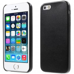 """Slim Leather"" dėklas - juodas (iPhone 5 / 5S / SE)"