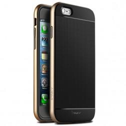 """""""IPAKY"""" kieto silikono (TPU) dėklas - juodas / auksinis (iPhone 6 / 6s)"""