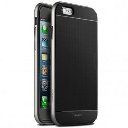 """""""IPAKY"""" kieto silikono (TPU) dėklas - juodas / sidabrinis (iPhone 6 / 6s)"""