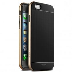 """""""IPAKY"""" kieto silikono (TPU) dėklas - juodas / auksinis (iPhone 6 Plus / 6s Plus)"""