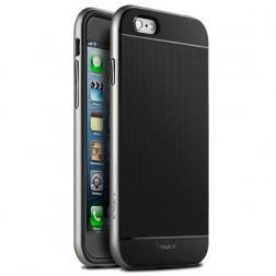 """""""IPAKY"""" kieto silikono (TPU) dėklas - juodas / sidabrinis (iPhone 6 Plus / 6s Plus)"""