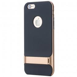 """""""Rock"""" Royce Kickstand dėklas - juodas / auksinis (iPhone 6 / 6s)"""