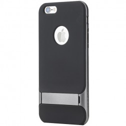 """""""Rock"""" Royce Kickstand dėklas - juodas / pilkas (iPhone 6 / 6s)"""